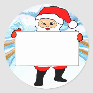 Childrens Xmas Party Blank Name Tags Classic Round Sticker