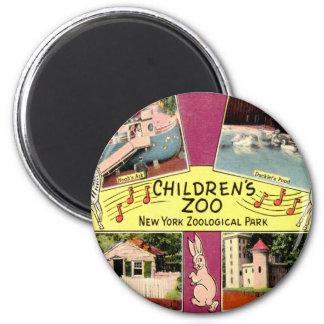 Children's Zoo, Bronx Zoo, NY Vintage Magnet