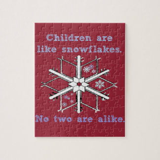 ChildrenSnowflakes Jigsaw Puzzle