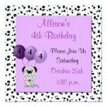 Childs 4th Birthday Party Invitation Purple