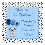 Childs 5th Birthday Party Invitation Blue