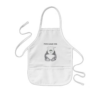 Childs Apron with Panda Bear Chef Picture
