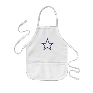 child's apron with purple star