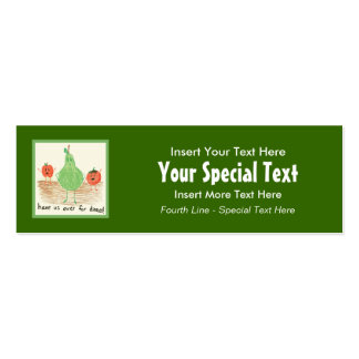 Child's Art, Green Double-Sided Mini Business Cards (Pack Of 20)