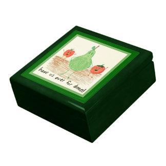 Child's Art, Green Trinket Boxes