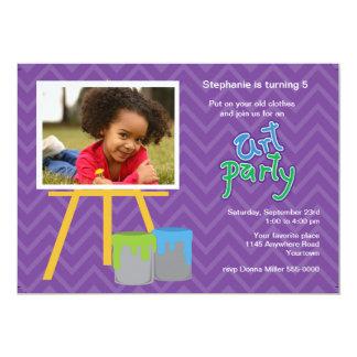 Childs Art Party Birthday Invitation