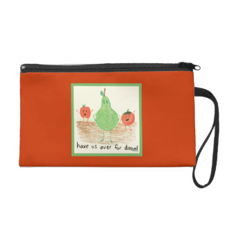 Child's Art, Red Wristlet Clutches