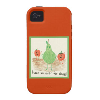 Child's Art, Red iPhone 4 Covers