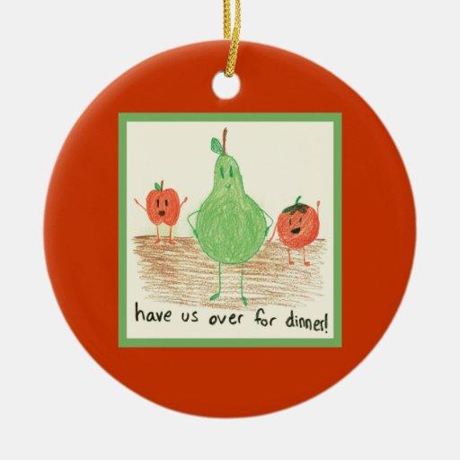 Child's Art, Red Ceramic Ornament