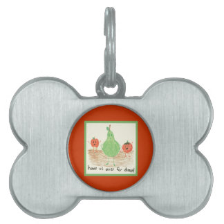 Child's Art, Red Pet Name Tag