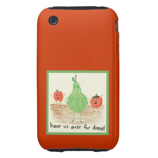 Child's Art, Red Tough iPhone 3 Case