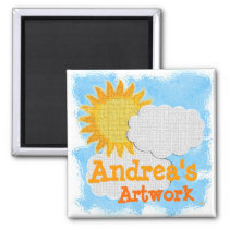 Childs Artwork (personalize) Magnet