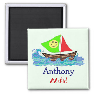 Child's Artwork Personalized Magnet