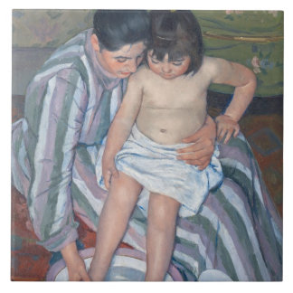 Child's bath, 1893 (oil on canvas) tile