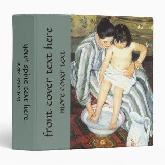 Child's Bath by Mary Cassatt Vintage Impressionism 3 Ring Binder