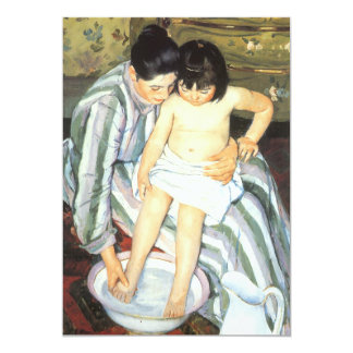 Child's Bath by Mary Cassatt Vintage Impressionism 5x7 Paper Invitation Card