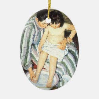 Child's Bath by Mary Cassatt Vintage Impressionism Ceramic Ornament