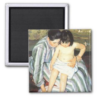 Child's Bath by Mary Cassatt Vintage Impressionism Magnet