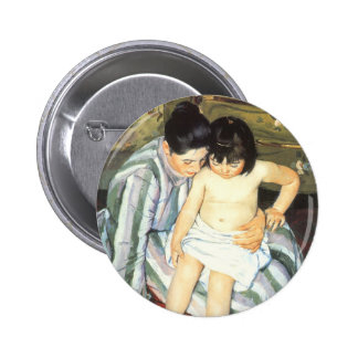 Child's Bath by Mary Cassatt Vintage Impressionism Pinback Button