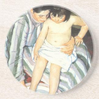 Child's Bath by Mary Cassatt Vintage Impressionism Sandstone Coaster