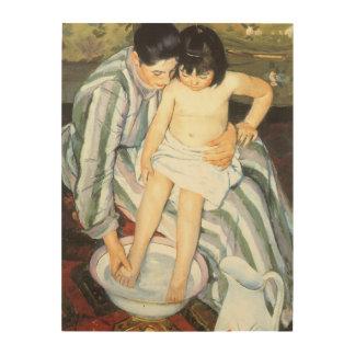 Child's Bath by Mary Cassatt Vintage Impressionism Wood Wall Decor