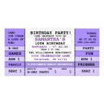 Childs Birthday Concert Ticket Photo Card Template