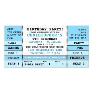 Childs Birthday Concert Ticket Photo Greeting Card