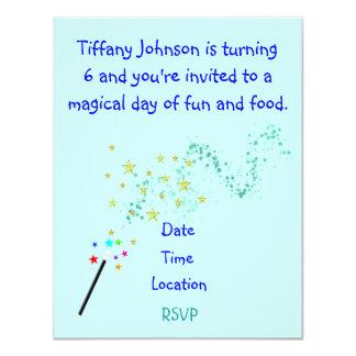 "Child's Birthday Invitation 4.25"" X 5.5"" Invitation Card"