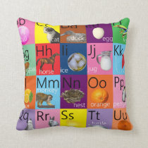 Child's bright alphabet chart picture cushion