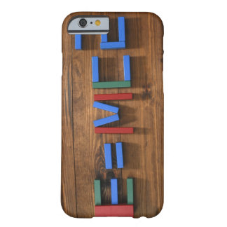 Child's building blocks arranged to show E=mc2 Barely There iPhone 6 Case