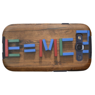 Child's building blocks arranged to show E=mc2 Samsung Galaxy S3 Cover