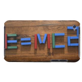 Child's building blocks arranged to show E=mc2 iPod Touch Case-Mate Case