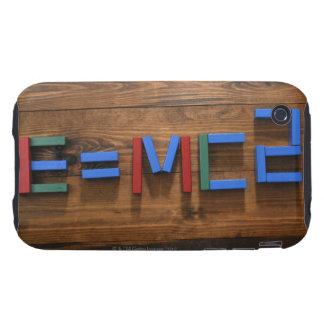 Child's building blocks arranged to show E=mc2 Tough iPhone 3 Cases