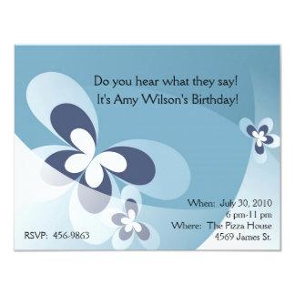 Child's Cartoon Butterfly Birthday Invitation