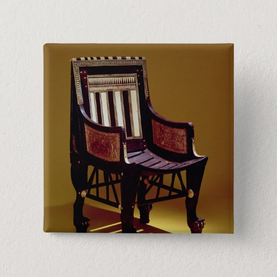 Child's chair, from the Tomb of Tutankhamun Pinback Button