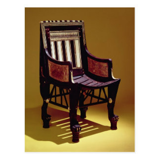 Child's chair, from the Tomb of Tutankhamun Postcard