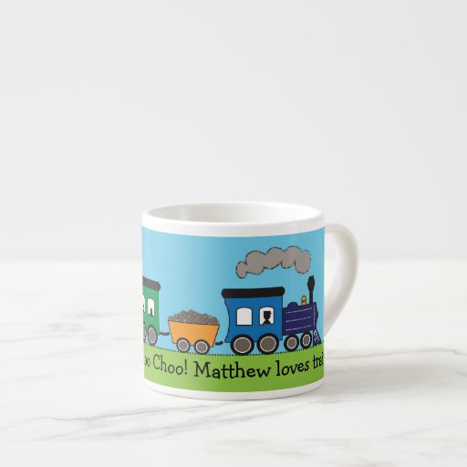 Child's Choo Choo Steam Train Mug Espresso Mugs