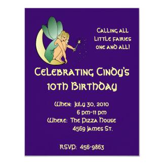 Child's Fairy Birthday Invitation