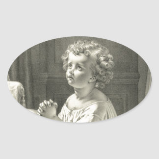 CHild's First Prayer Oval Sticker