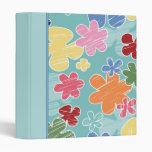 Child's Flowery School Vinyl Binders
