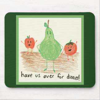 Child's Food Art, Green Mouse Pad