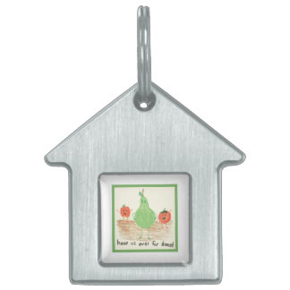 Child's Food Art, Green Pet Tags