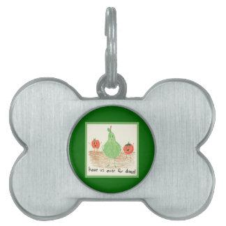 Child's Food Art, Green Pet ID Tags