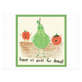 Child's Food Art, Green Postcard