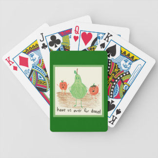 Child's Food Art Bicycle Playing Cards