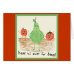 Child's Food Art Stationery Note Card