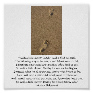 Child's Footprints Poster
