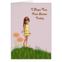 Child's Friend Get Well Card w Asthma.
