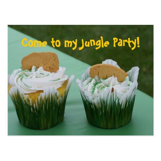 Child's Fun Jungle Birthday or Shower Party Invite Postcard