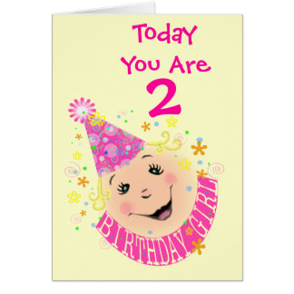 Childs ( Girl) Personalized Birthday Greeting Card